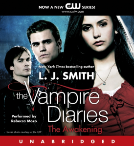 The Vampire Diaries Audiobook Review Book 1: The Awakening, UNABRIDGED Written by L. J. Smith, narrated By Rebecca Mozo, series: Vampire Diaries, Book 1